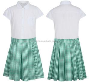 WHOLESALE school uniform patterns Girls School Gingham Dress