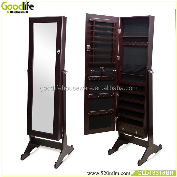 Goodlife high quality diy wooden jewelry armoire