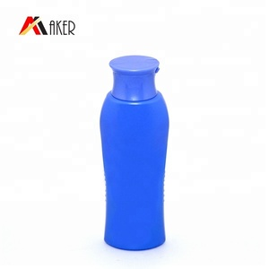200ml Blue Liquid Hand Soap PE Plastic Bottle For Bath Salt