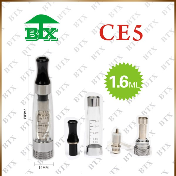 Electronic cigarette atomizer 650mah ego battery 1.6ml atomizer