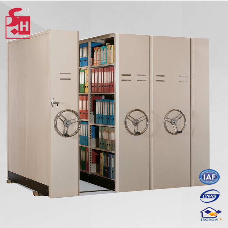 Steel Archives Shelving Metal Compact Mobile Filing Cabinet locker