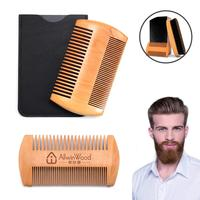 Amazon Hot sell Mens Antistatic Wooden Lice Moustache Beard Comb