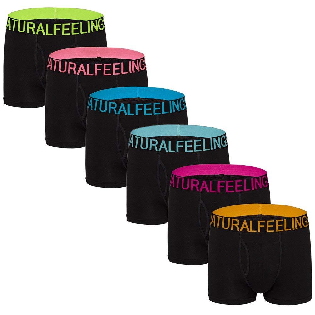 624df1a1281d Get Quotations · Dream Catcher Mens Underwear Boxer Briefs Black Wide Waistband  Underwear Men Pack Open Fly Men's Underwear