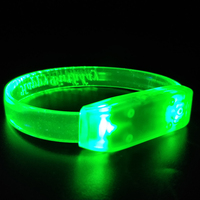 2018 Hot selling Christmas Party Accessories Promotional Music Controlled Led light up Bracelet