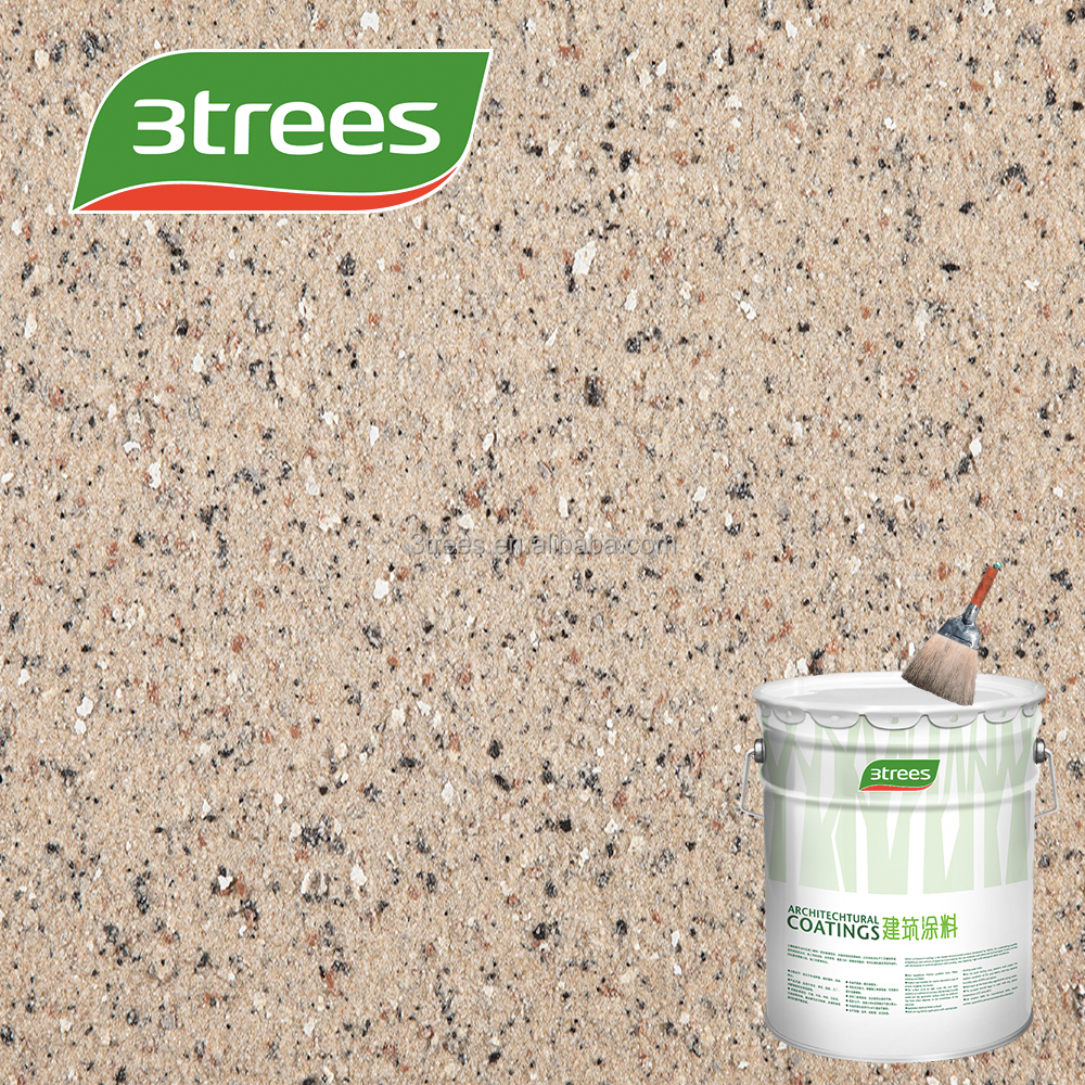 3TREES Excellent Performance U.V. Resistant Special Rock Chip Granite Stone Paint/Coating