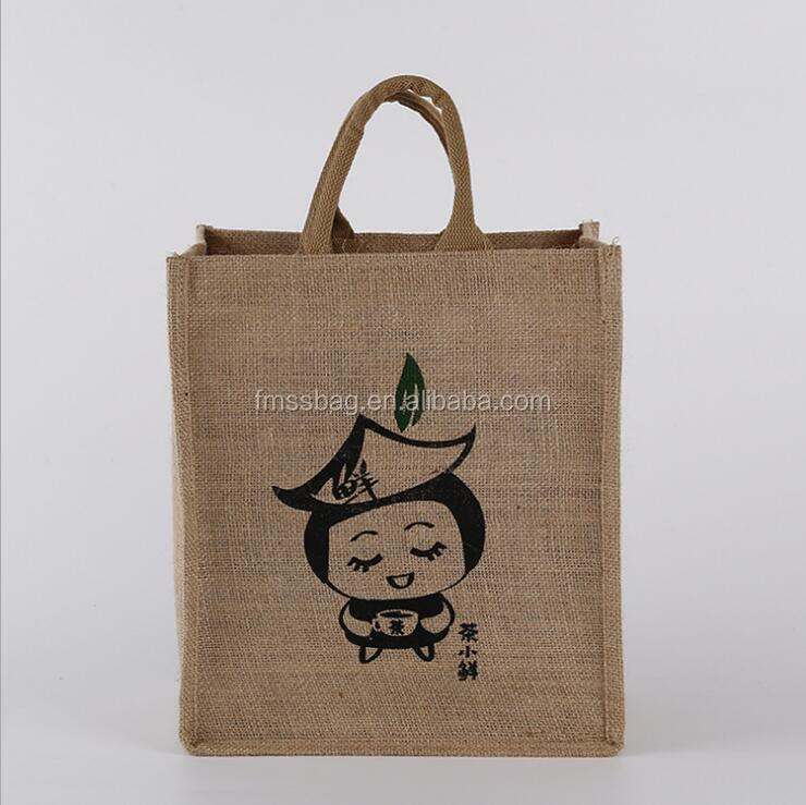Customized Logo <strong>Eco</strong>-Friendly Wholesale <strong>Eco</strong> Tote Jute Shopping Bag