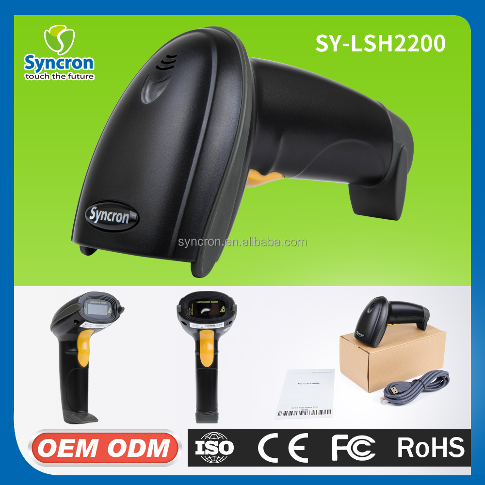 2017 Factory Cheap Price High SpeedChina 1d Handheld Laser Usb Rs232 Barcode Scanner