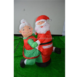 Courtyard products LED lamp inflatable santa claus and old lady dancing christmas goods