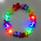 Hawaii Led Flower Necklace Lei 2Artificial Flower Wreath Wholesale Promotion Flower Lei