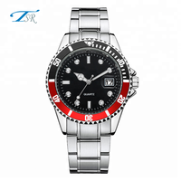 2018 Best sell stainless steel back mens roles watches with calendar for business