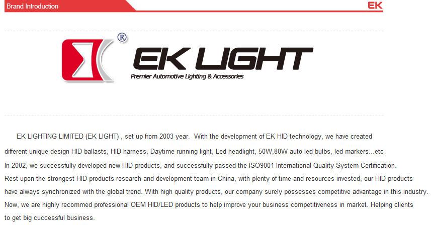 Eklight Tuv Manufacturer H1 H7 H11 9005 9007 H13 Car H4 Led ...
