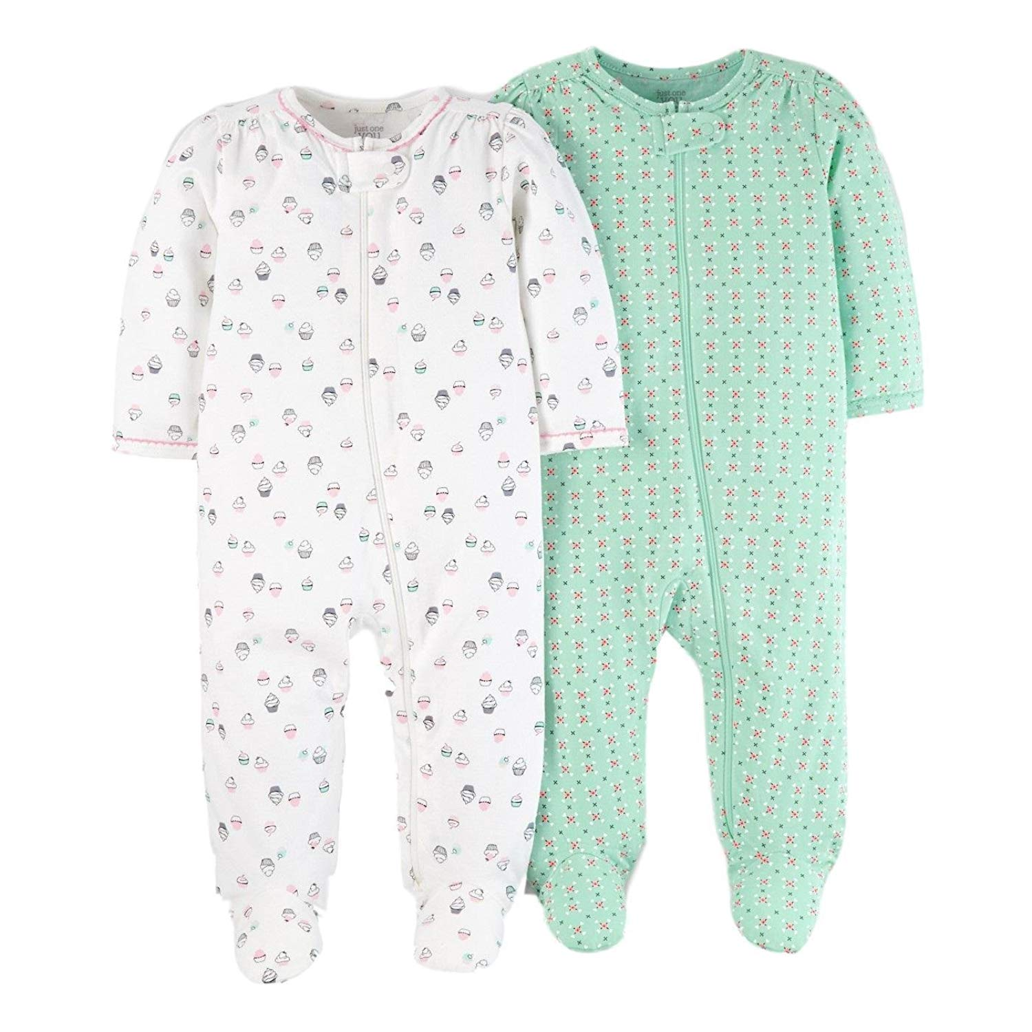 Get Quotations · Carters Preemie Sleepers For Girls Footed 2pc Cotton Baby  Girl Sleeper (Preemie Fits up To c5b9dfd89