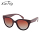 retro custom hand polished gradient lens cat eye wood frame sunglasses women