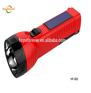 Zhongshan factory solar power rechargeable led flashlight led torch flashlight with CE ,RoHS