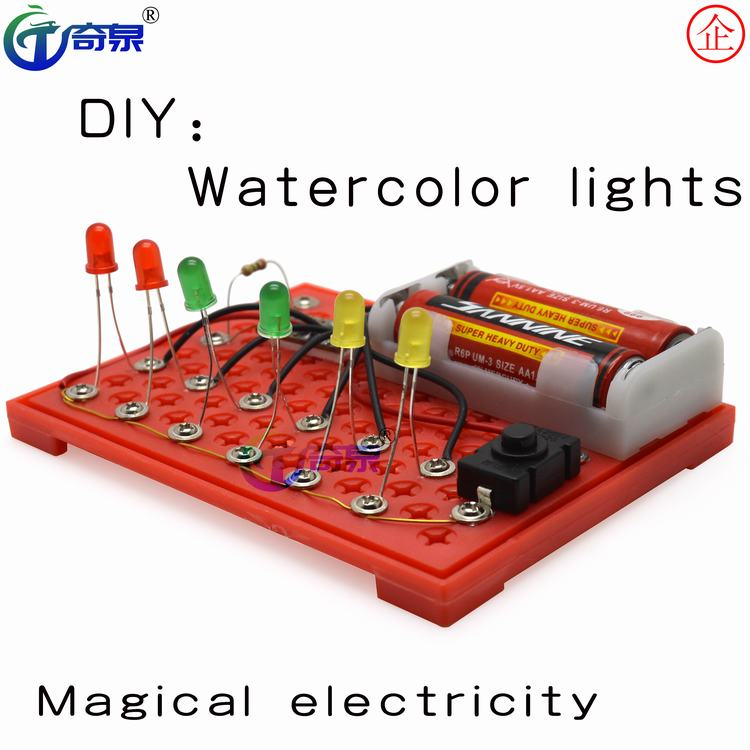 STEM-science education light-emitting circuit physical knowledge DIY-Qiquan-equipment toys