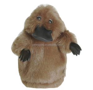 MATES BROWN PLATYPUS PUPPET SOFT ANIMAL PLUSH TOY 25cm