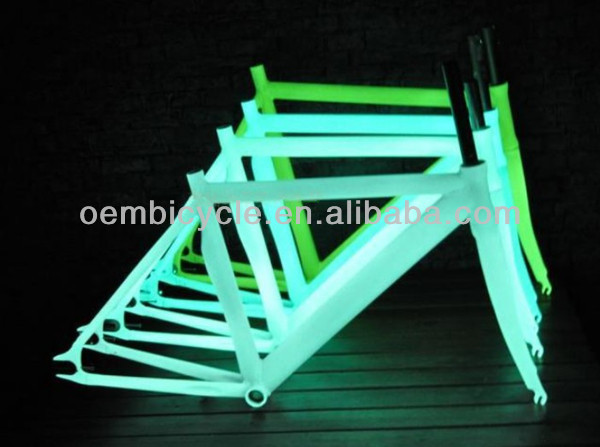 700C fixed gear bike noctilucence/luminous/glow alloy frame