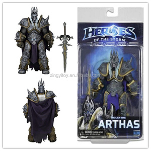 "NECA Heroes of the Storm the lich King Arthas 7"" toy action figure"