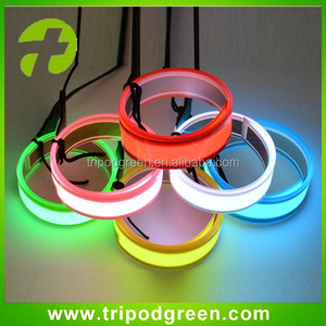 Top quality,high visibility light up el tape.el flashing light tape