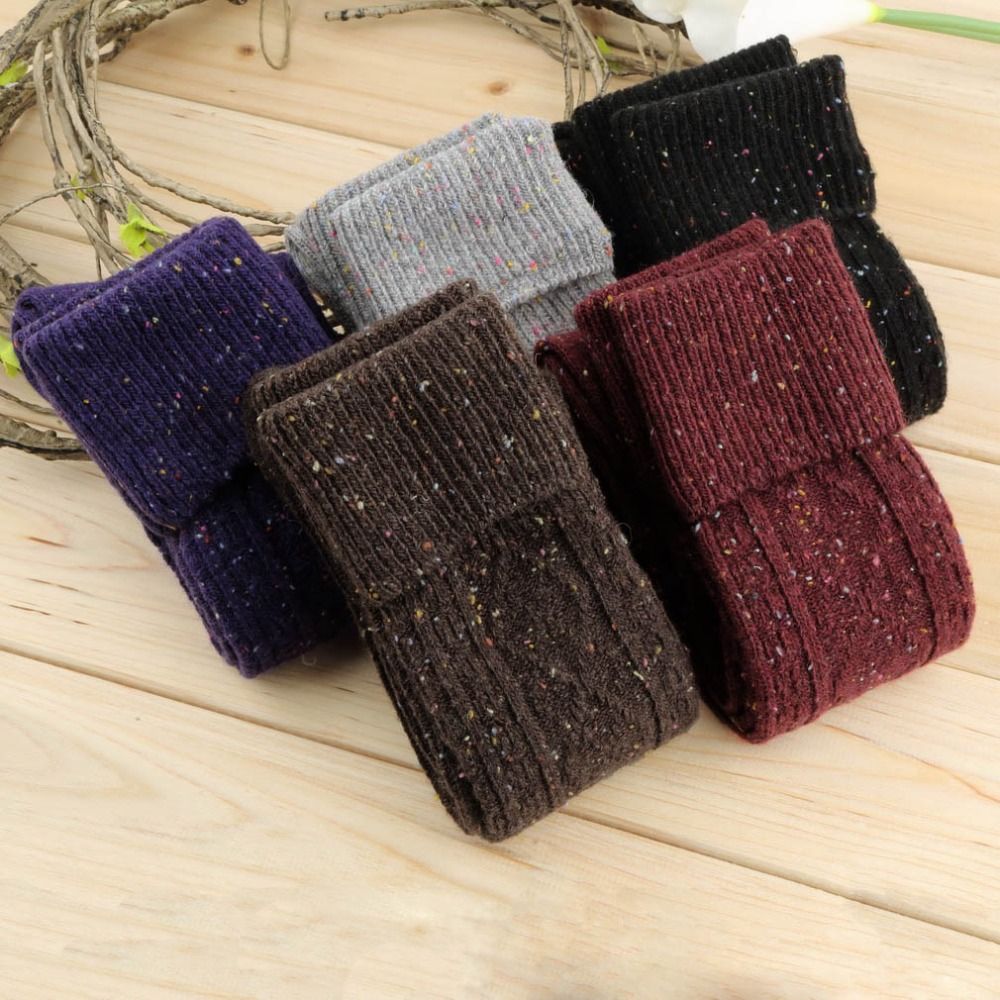 Fashion Sex sock Sexy Women Lace Boot Socks for Women Warm Women's Dot Wool Blend Long Knee High Winter Boot Socks New
