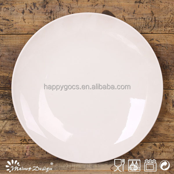 "Blanco 12,4 ""de gran tamaño pizza placa"