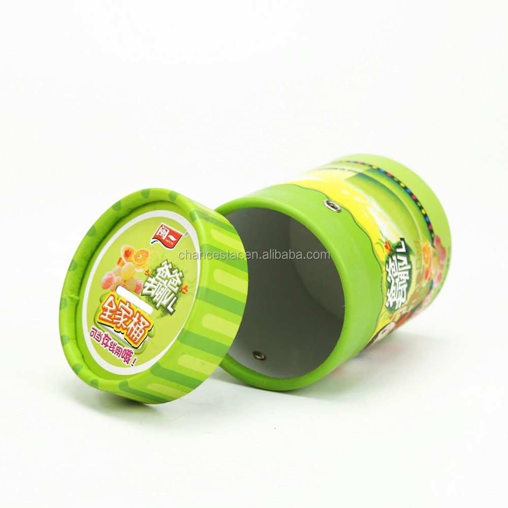 Round recycled cardboard paper tube for earphone packing