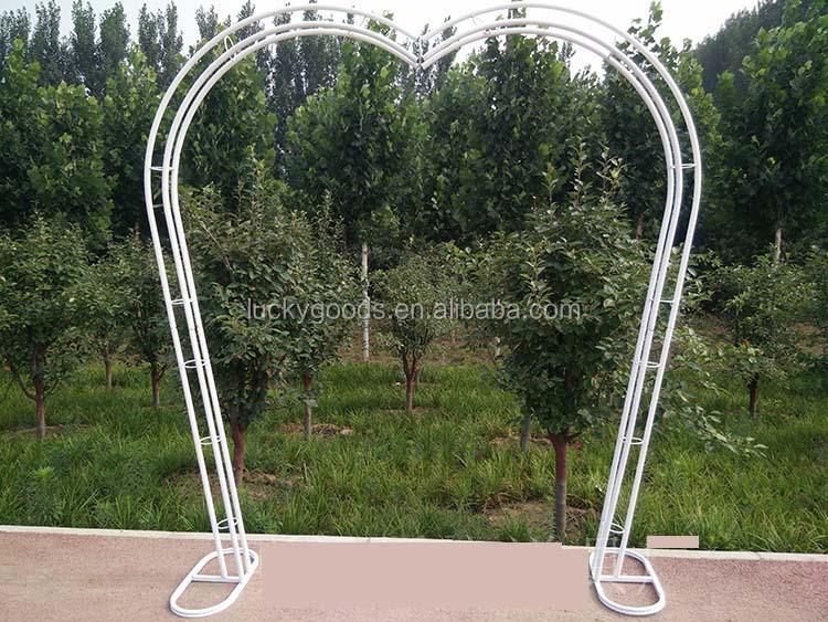 Personalizado En Forma De Corazon De Metal Jardin Arco De La Boda Al - Arcos-de-jardin