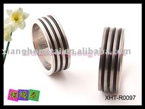 steel &titanium ring