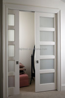 Cavity Partition Glass Sliding Doors With Accessories DJ-S424