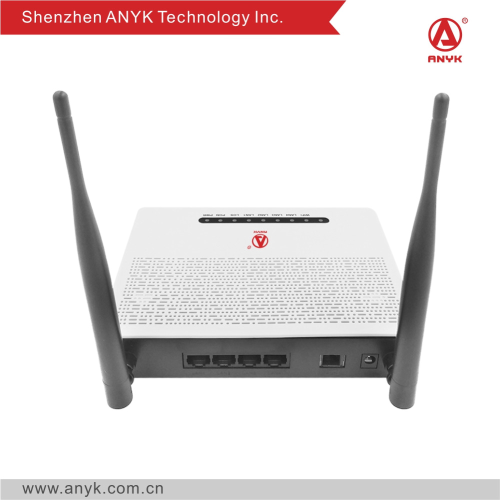 Telecom equipment 4FE wifi GPON router ONT Compatible with Huawei, ZTE, Fiberhome olt
