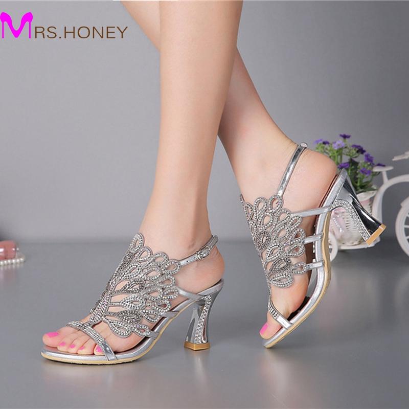 Chunky Wedding Heels: Aliexpress.com : Buy Summer New Sandals Chunky Heel Floral