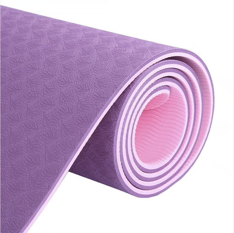 Aupcon Fitness pilates oefening gym TPE yoga mat antislip Fabriek groothandel bedrukt camping matten