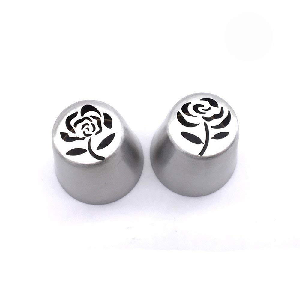Stainless Steel Russian Tulip Icing Piping Cake Decorating Tools Rose Tulip Shaped. (2 pcs/set)