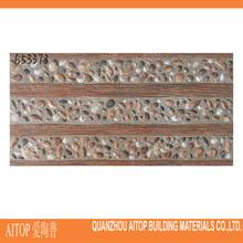 Brown rustic wall ceramic brick tile 3d inkjet tile 300x600mm rock wall ceramic panel for veranda wall decor high quality China