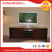 Modern new design high quality living room customized hotel wall mounted led tv cabinet