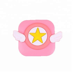 Cartoon Cute Girl Pink Contact Lens Cases Plastic Travel Kit Fashion Contact Lens Container