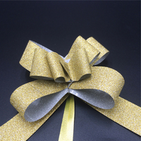Cheap selling latest package decorative glitter pull Butterfly Bow