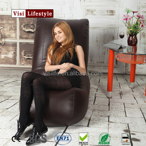 High quality small PU leather bean bag lounge factory wholesale