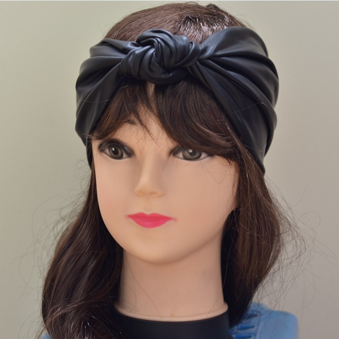 Unique Design Women Synthetic Leather Knot Headbands ...