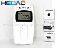 Portable temperature humidity data logger, electronic humidity and temperature recorder with USB connection
