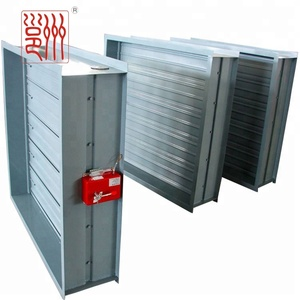 Hvac System galvanized sheet fire damper 70 / 280 degree on Wall pipe