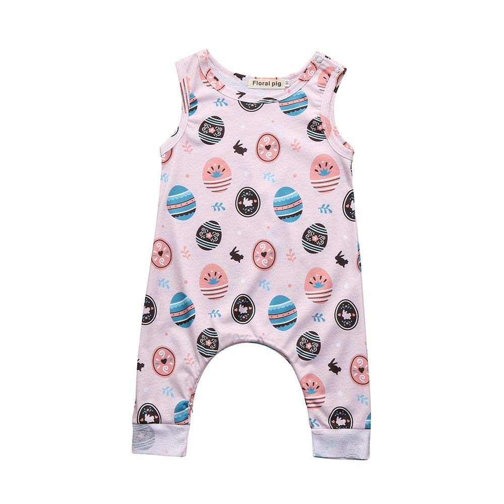 ee1ec52ce Get Quotations · Hatop Baby Easter Outfits, Boys Girls Easter Eggs Cartoon Print  Romper Jumpsuit