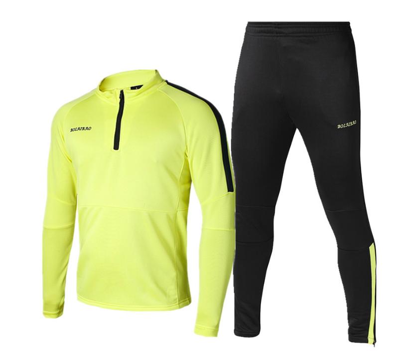 Personalizado para hombre manga larga entrenamiento de fútbol jersey simple  deportivos chándal de poliéster deporte de 6c3dd2c171faa