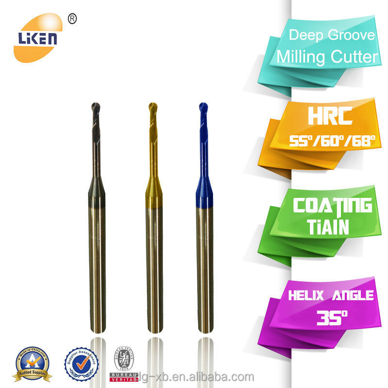 Altin Coated Deep Groove Micro End Carbide End Mill Vs Hss