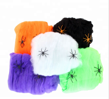 2019 Halloween Decoration for Home Spider Web with Spiders