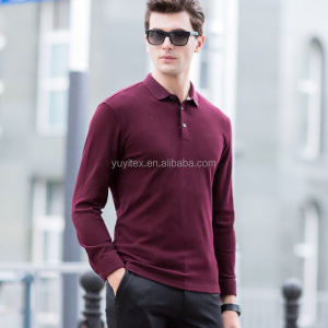 Mens Polo Shirt 100% Cotton New Fashion blank Long Sleeves t-shirt Hot Sale Autumn Male Business Casual Polo Shirt Breathable