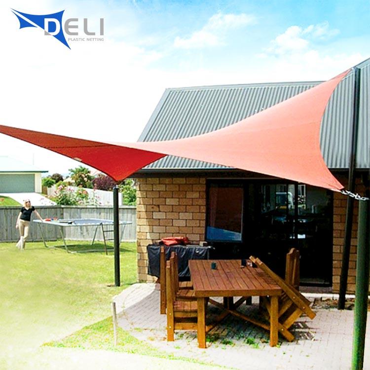 High Quality Sun Sail Shade Patio Awning Canopy Sunscreen 3.6x3.6x3.6m Dark Grey