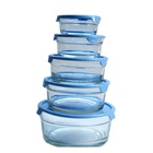 Wholesale Heat-Resisting Pyrex Glass Food Warmer Container Lid,Container For Food Glass