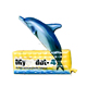 inflatable dolphin billboard inflatable ground balloon for sale S6011