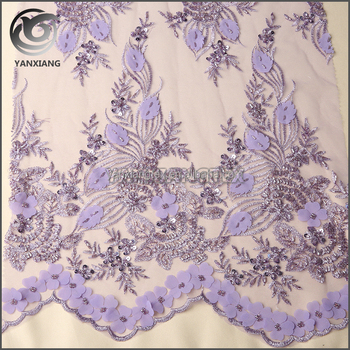 Hand work embroidery fabric for dress